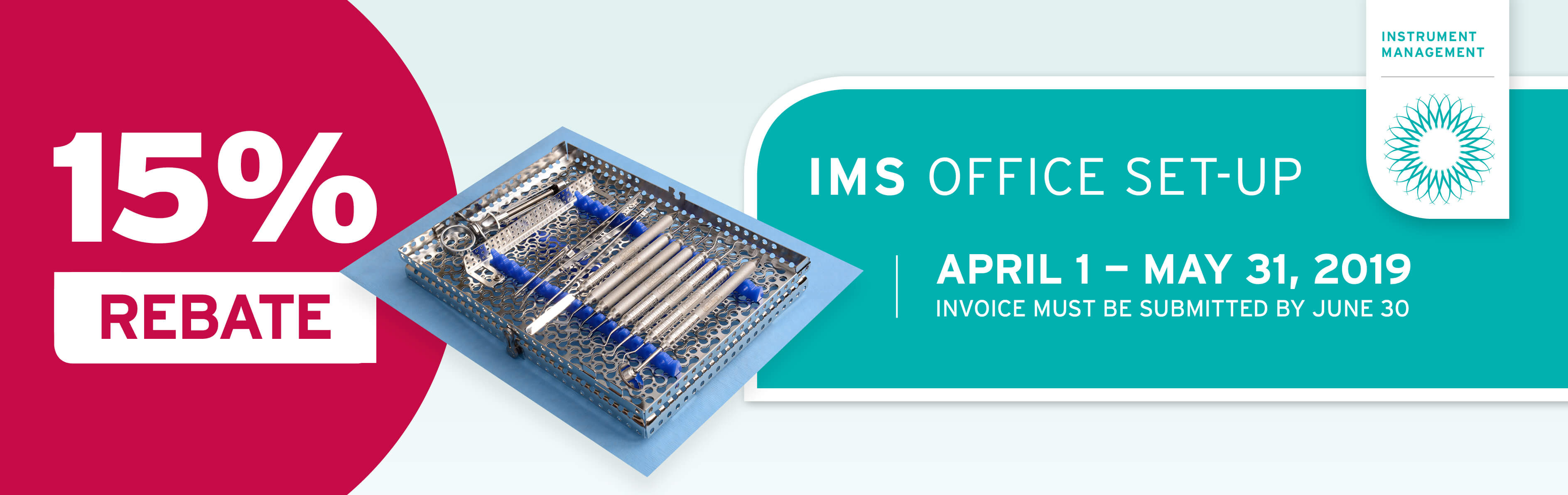 HU-FRIEDY SPECIAL 15% IMS OFFICE SET-UP REBATE
