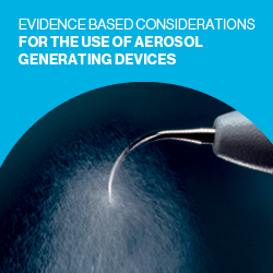 Evidence based considerations for the use of aerosol generating devices